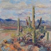 Meredith Milstead, Windy Mountain, 8x8, oil on canvas