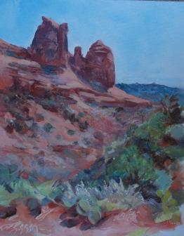 Meredith Milstead, Sedona Morning, 8x10, oil on panel, 2013
