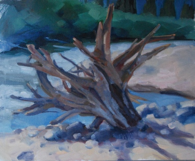 Meredith Milstead, Vallecito Stump, 8x10, oil on panel, 2013