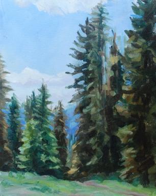 Meredith Milstead, Slumgullion Pass, 8x10, oil on panel, 2013