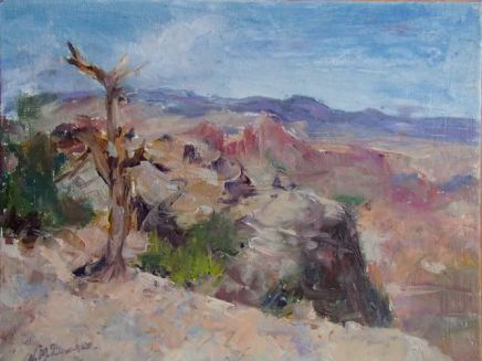 Valerie Milner, Windy Point, oil on panel, 2013