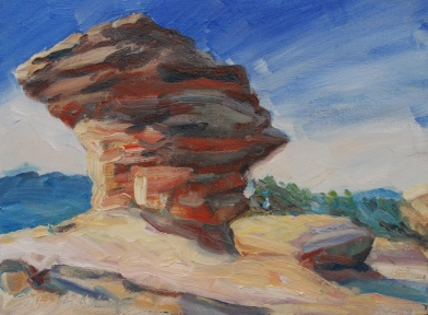 Meredith Milstead, Resolute Rock, 9x12, oil on canvas, 2013