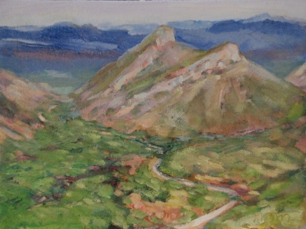 Meredith Milstead, Green Valley, 9x12, oil on canvas, 2013