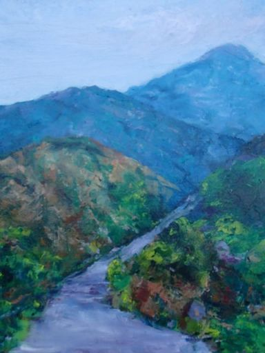 Valerie Milner-Graham, Mount Hopkins, oil on canvas, 2013
