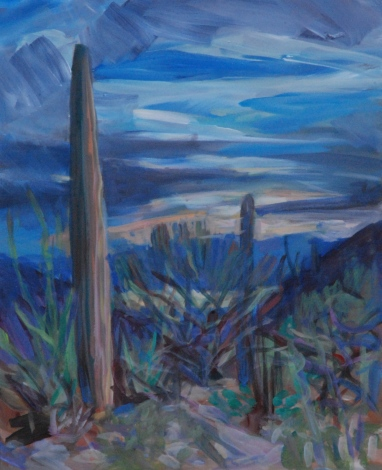 M.Milstead, Trails End Sunrise, 11x14, acrylic on panel, 2013