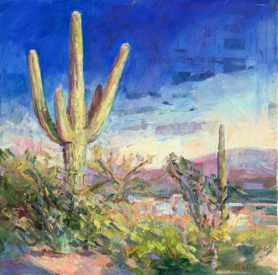 Milstead_Sonoran Sunset_Oil on canvas_ 10x10