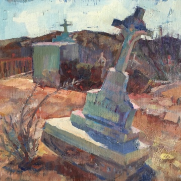 Patagonia Headstone_oil on canvas_Meredith Milstead