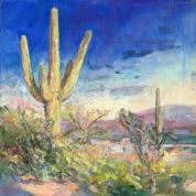 Sonoran Sunset_oil on canvas_Meredith Milstead