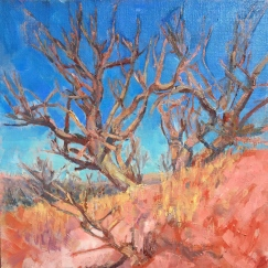 Dirt Track Trees_oil_M.Milstead