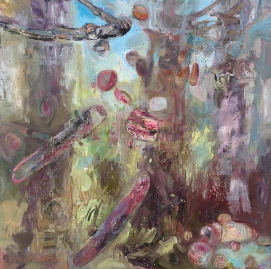 Milstead, 40x40 oil on linen, Untitled Biological Event