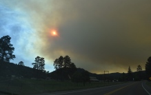 fire sun smoke